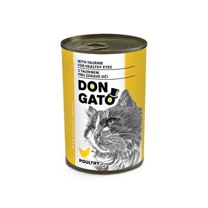 DON GATO konzerva kočka drůbeží 415 g
