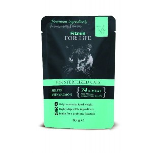 Lososová kapsička pro kastrované kočky 85 g FFL